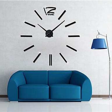 Casual / Office / Business / Modern / Contemporary Stainless Steel / EVA Round Indoor / Outdoor / Indoor,AAA Wall Clock