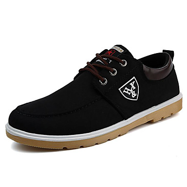 Men's Driving Shoes Canvas Spring / Fall Sneakers Black / Dark Blue