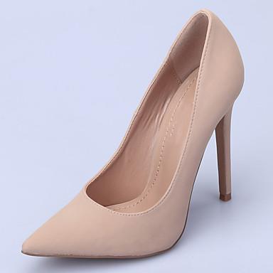 Mujer Zapatos Cuero Patentado Primavera verano Pump Básico Tacones Tacón Cuadrado Dedo Puntiagudo Rojo / Verde / Azul KKPrXjG