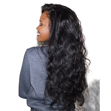 Remy Human Hair Glueless Full Lace / Glueless Lace Front / Full Lace Wig Brazilian Hair Body Wave Wig 180% 100% Hand Tied Women's Long Human Hair Lace Wig