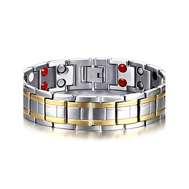 Men's Chain Bracelet Bracelet Bangles Magnetic Bracelet - Titanium Steel Natural, Fashion Bracelet Silver For Gift Daily
