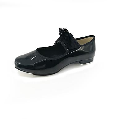 Női Sztepp cipők PVC bőr / Lakkbőr Lapostalpú Lapos Dance Shoes Fekete