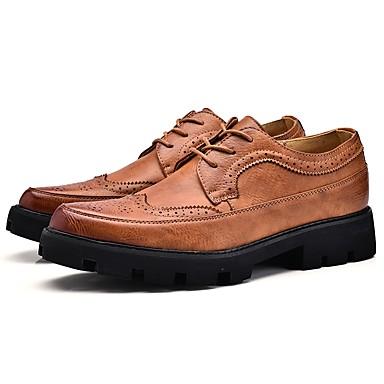 Férfi Formális cipők Bőr Ősz / Tél Félcipők Gyalogló Szürke / Sárga / Kék / Esküvő / Party és Estélyi / Bullock cipő