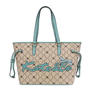 Women's Bags PU(Polyurethane) Shoulder Bag Sashes / Ribbons Geometric Camel