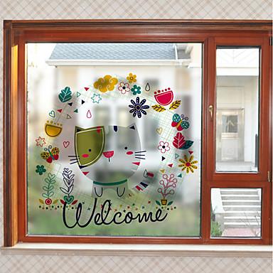 Window Film & Stickers Decoration Animal Art Deco PVC / Vinyl Window Sticker / Living Room