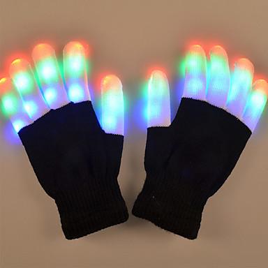 1 Pair LED Finger Light RGB Battery Decorative