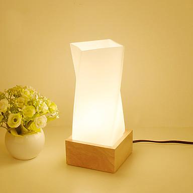 Művészi Rusztikus Kreatív Modern/kortárs Szemvédelem Újdonságok Dekoratív Asztali lámpa Kompatibilitás Fa/ Bambusz 220 V