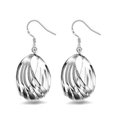 Női Francia kapcsos fülbevalók - Ezüst Virág minimalista stílusú, Divat Ezüst Kompatibilitás Ajándék Napi