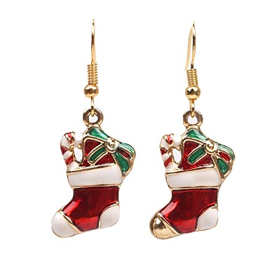 Men's / Women's Synthetic Diamond Geometric Drop Earrings - Fashion Red For Christmas / Daily