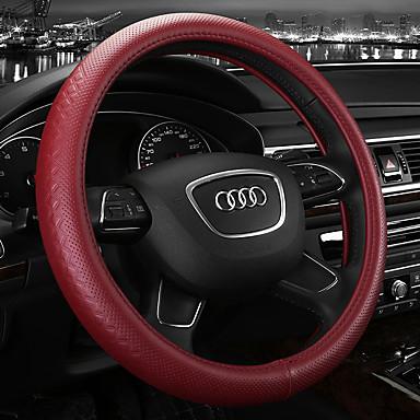 voordelige Auto-interieur accessoires-Auto-stuurhoezen Leder 38cm Beige / Grijs / Koffie Voor Audi A4L / Q5 / Q7 Alle jaren