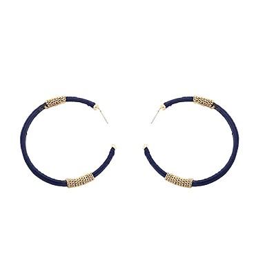Women's Hoop Earrings - Geometric, Fashion Dark Navy For Party / Gift