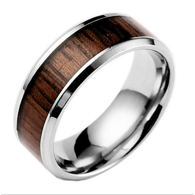 Men's Women's Band Ring Coffee Brown Titanium Steel Others Fashion Daily Costume Jewelry