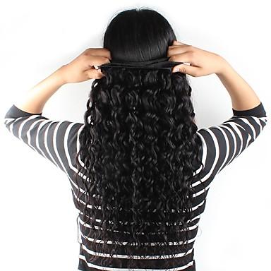 Brazil haj Természetes hullám / Hullám Emberi haj Az emberi haj sző Emberi haj sző Human Hair Extensions / Hullámos