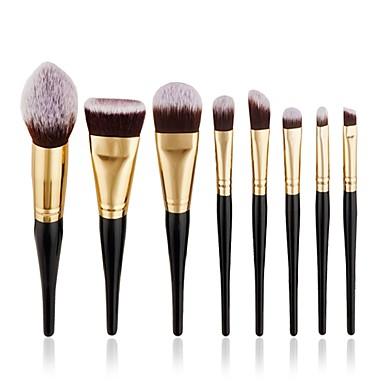8pcs Makeup Brushes Professional Makeup Brush Set / Blush Brush / Eyeshadow Brush Synthetic Hair Full Coverage / Synthetic Resin