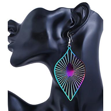 Női Ékszerek Beszúrós fülbevalók, Függők - Rozsdamentes acél Leaf Shape Kék