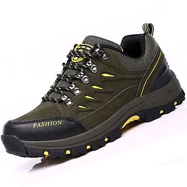 Férfi cipő Fordított bőr Tél Ősz Kényelmes Sportcipők Túrázó Fűző mert Sport Szabadtéri Szürke Katonai zöld Kék
