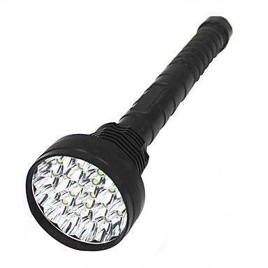 billige Lommelykter & campinglykter-ANOWL LED Lommelygter LED LED 24 emittere 11000 lm 5 lys tilstand Bærbar Slitasje-sikker Camping / Vandring / Grotte Udforskning Politi / Militær Jakt