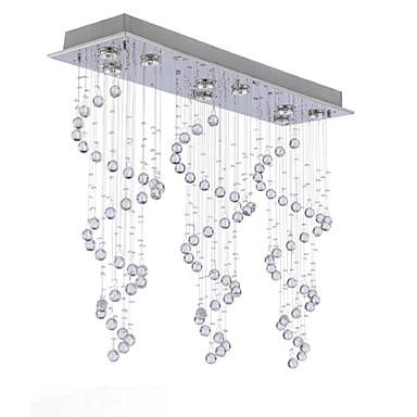 QINGMING® 9-Light Mennyezeti lámpa Háttérfény - Kristály, Mini stílus, A tervezők, 110-120 V / 220-240 V Az izzó tartozék / GU10 / 10-15 ㎡