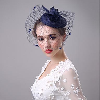 Flax Fascinators / Birdcage Veils with 1 Wedding / Party / Evening Headpiece