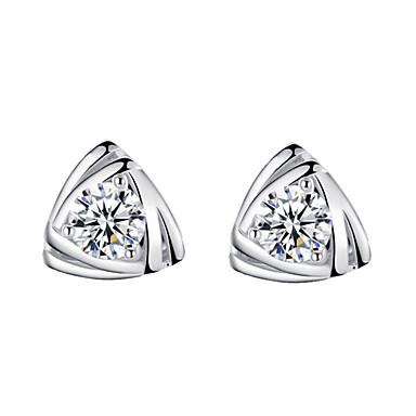 Women's Stud Earrings - Simple Style, Fashion Silver For Daily