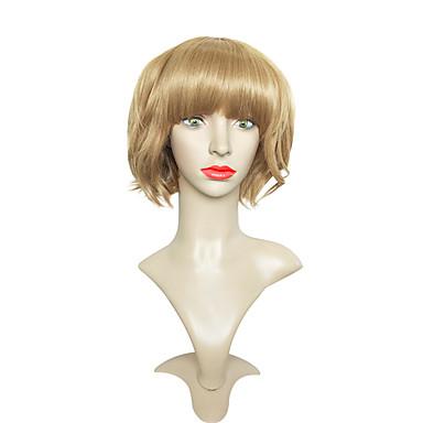 Szintetikus parókák Hullámos Bob frizura Sűrűség Sapka nélküli Női Barna Party paróka Rövid Szintetikus haj