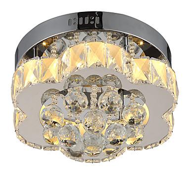 LightMyself™ Mennyezeti lámpa Háttérfény Króm Kristály Kristály, Távirányítóval szabályozható 85-265 V Távirányítóval szabályozható Az izzó tartozék