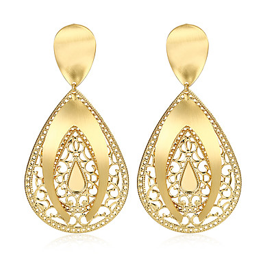 Women's Drop Earrings - Gold Plated Drop Statement, Fashion Gold For Party / Halloween
