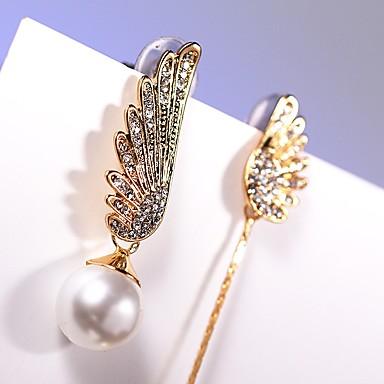 Női Szintetikus gyémánt Függők, Rendhagyó fülbevalók - Arany / fehér / Eltérés / Eltérés