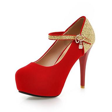 Femme Printemps Chaussures Bout Paillette rond Talons Brillante 06242355 Cuir Talon à Aiguille Confort Nubuck Chaussures Automne Nouveauté TrHwXqT