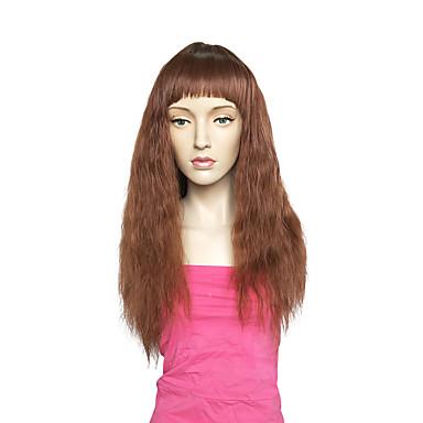 Szintetikus parókák Hullám Réteges frizura Sűrűség Sapka nélküli Női Barna Halloween paróka Híres parókát Party paróka Természetes paróka