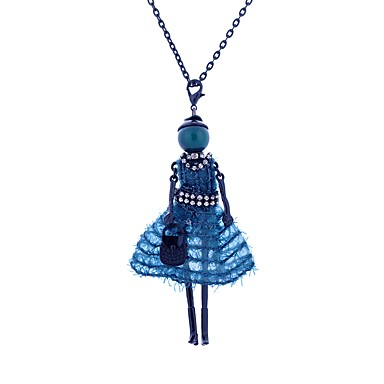 Women's Pendant Necklace - Lace Princess Luxury, Bohemian, Boho Dark Blue, Red, Light Green Necklace For Casual, Club