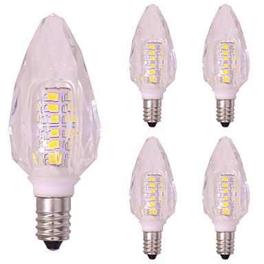 5 db 3 W 260 lm E14 LED gyertyaizzók T 40 led SMD 2835 Meleg fehér Hideg fehér AC 220-240V