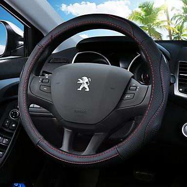 abordables Accessoires Intérieur de Voiture-Protège Volant Cuir 38cm Noir / Noir / Rouge / Noir / Bleu Pour Peugeot 4008 / 408 / 3008 Toutes les Années