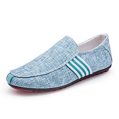 Férfi cipő Vászon Tavasz Ősz Kényelmes Papucsok & Balerinacipők mert Hétköznapi Hivatal és karrier Fekete Szürke Kék