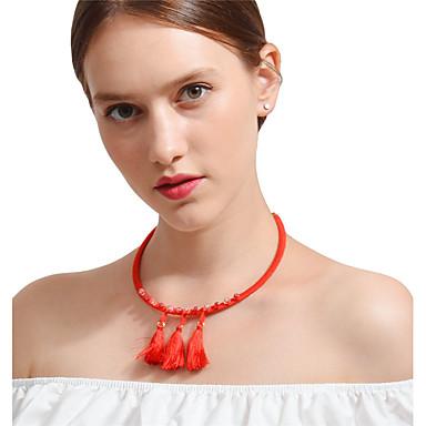 Női Bohém Kristály Kristály Rövid nyakláncok Nyaklánc medálok  -  Bohém Szexi Circle Shape Piros Nyakláncok Kompatibilitás Parti Napi