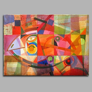 Hang målad oljemålning HANDMÅLAD - Djur Artistisk Tecknat Modern Duk ... e86a6f6610c8e