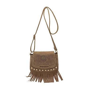 Női Táskák PU Vállon átvetős táska Flitter mert Hivatal és karrier Gesztenyebarna / Barna / Khakizöld