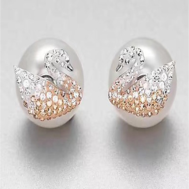 Women's Stud Earrings - Pearl, Sterling Silver Luxury White For Gift / Daily