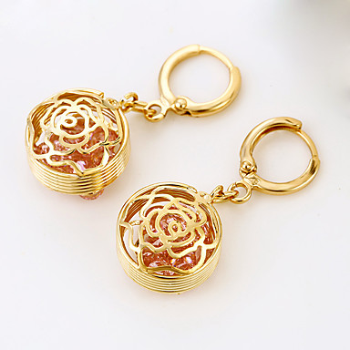 Women's Drop Earrings - Rose Gold Plated Floral / Botanicals, Roses, Flower Luxury Rose Gold For Wedding / Engagement