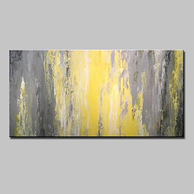 Hang festett olajfestmény Kézzel festett - Absztrakt Absztrakt Modern Vászon