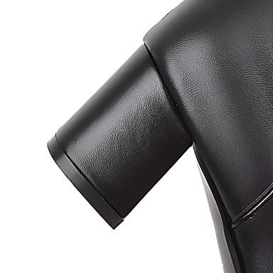 Automne Strass Femme rond Cavalières Talon à la Bout Similicuir Chaussures Bottes Hiver Paillette Bottes Bottes Mode Bottier 06239119 Bottes aawzx6E
