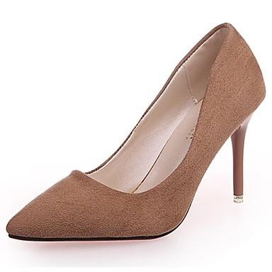 Női Cipő Fordított bőr Ősz Magasított talpú Magassarkúak Tűsarok Erősített lábujj Kombinált Piros / Rózsaszín / Khakizöld