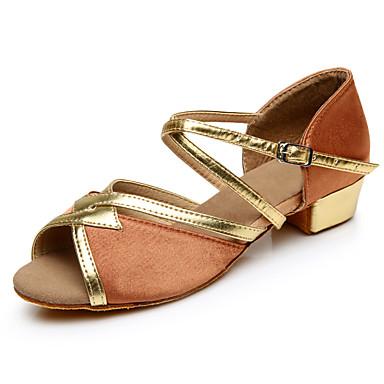 baratos Super Ofertas-Mulheres Sapatos de Dança Seda Sapatos de Dança Latina Salto Salto Baixo Personalizável Preto / Vermelho / Azul