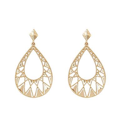 Női Függők - Fémes / Divat Arany Geometric Shape / Ovális Fülbevaló Kompatibilitás Ajándék / Hétköznapi