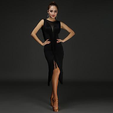 Latin tánc Ruhák Női Teljesítmény Tőke Spandex Rojt Ujjatlan Természetes Ruha