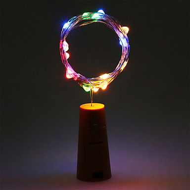 2m String Lights 20 LEDs Warm White / RGB / White Battery