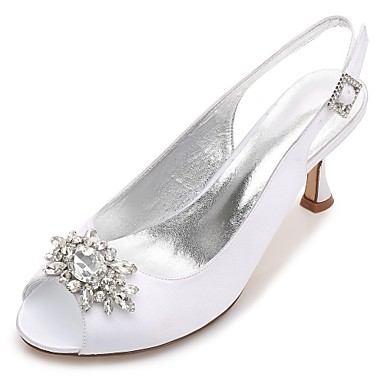 Womenu0027s Shoes Satin Spring / Summer Comfort / Basic Pump Wedding Shoes  Kitten Heel / Cone