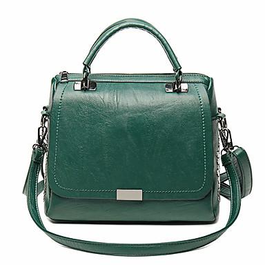 Women's Bags PU Tote Beading Black / Red / Dark Green