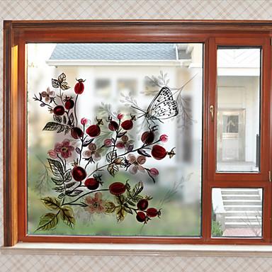Ablakfólia és matricák Dekoráció Virágos Virágos PVC / Βινύλιο Ablak matrica / Nappali