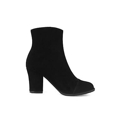 Bottes Confort Bottine Nubuck Demi Chaussures rond à Cuir Mode Femme 06373915 Bottes Botillons Noir Bout Botte la Printemps Automne 6xqYEXEwF
